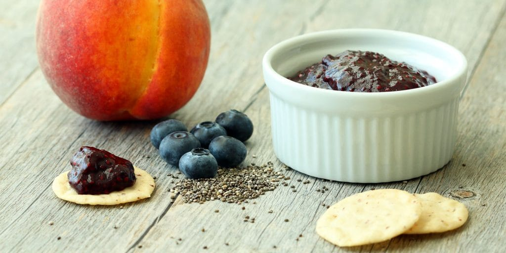 Blueberry Peach Chia Jam