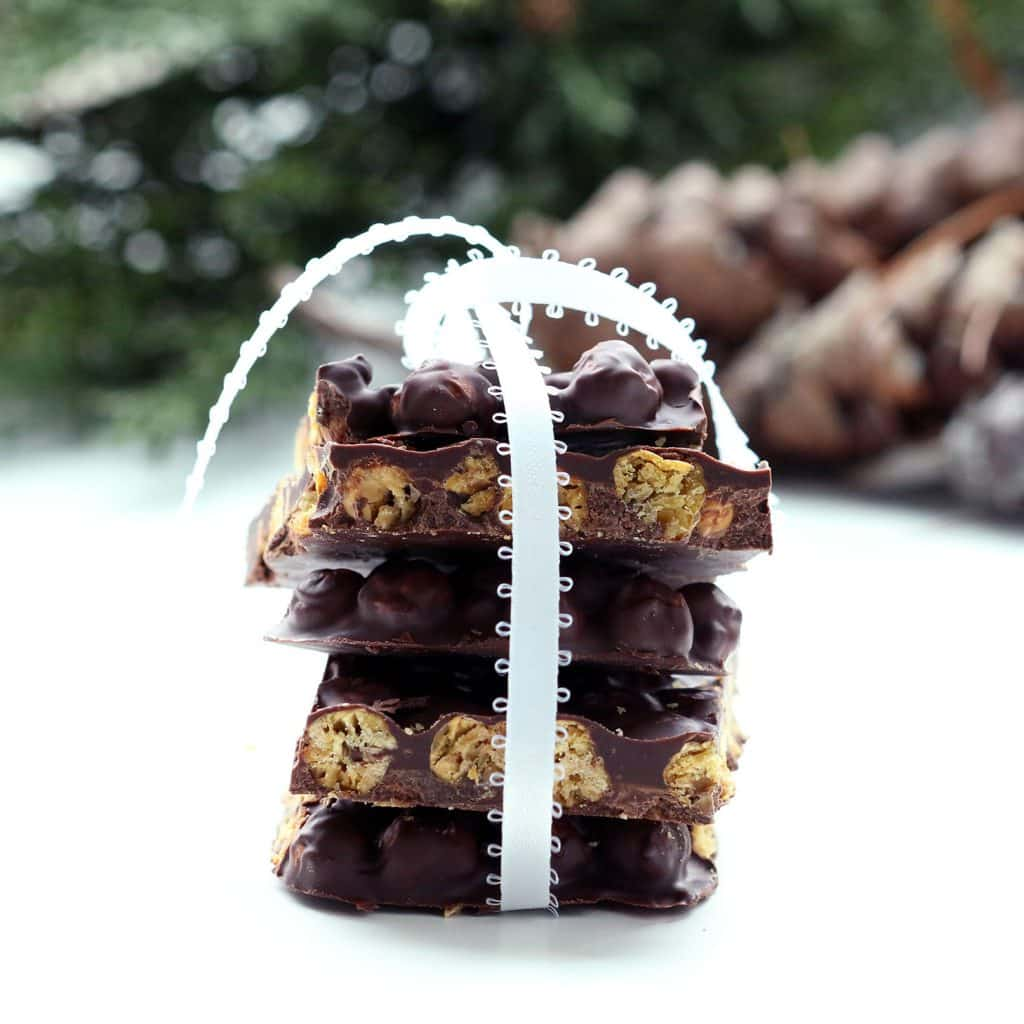Chocolate Chickpea Bark