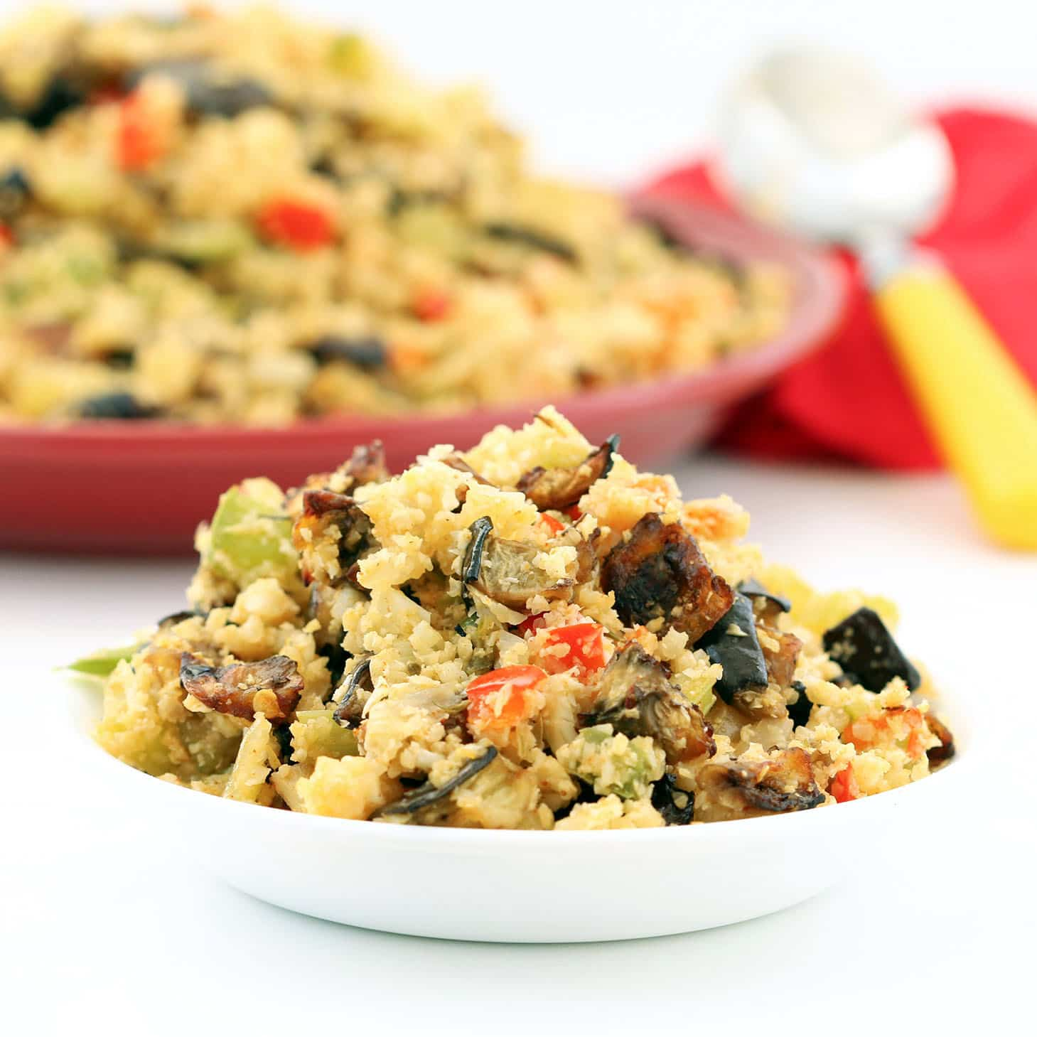 "Eggplant Cauliflower Dirty ""Rice"" (Gluten-Free, Vegan / Plant-based..."