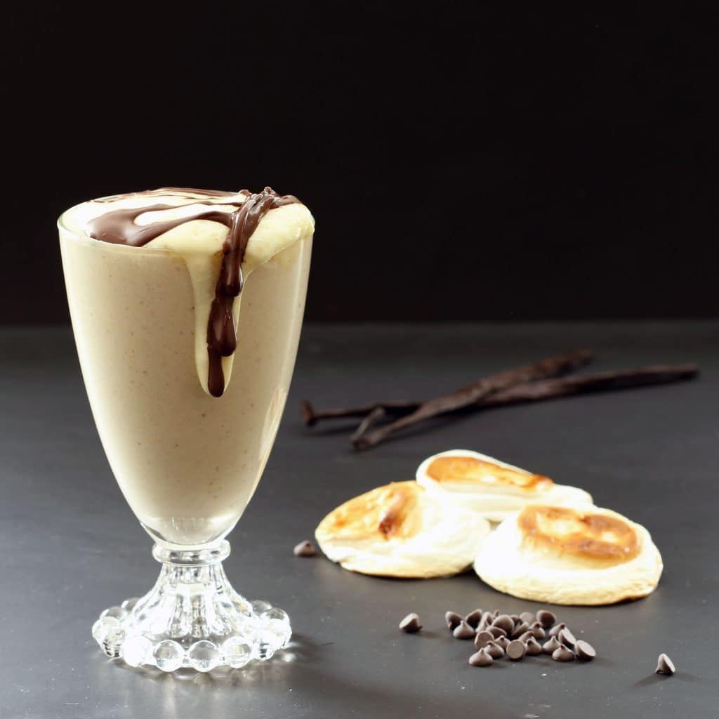 Toasted Marshmallow Vegan Smoothie - Dessert Version