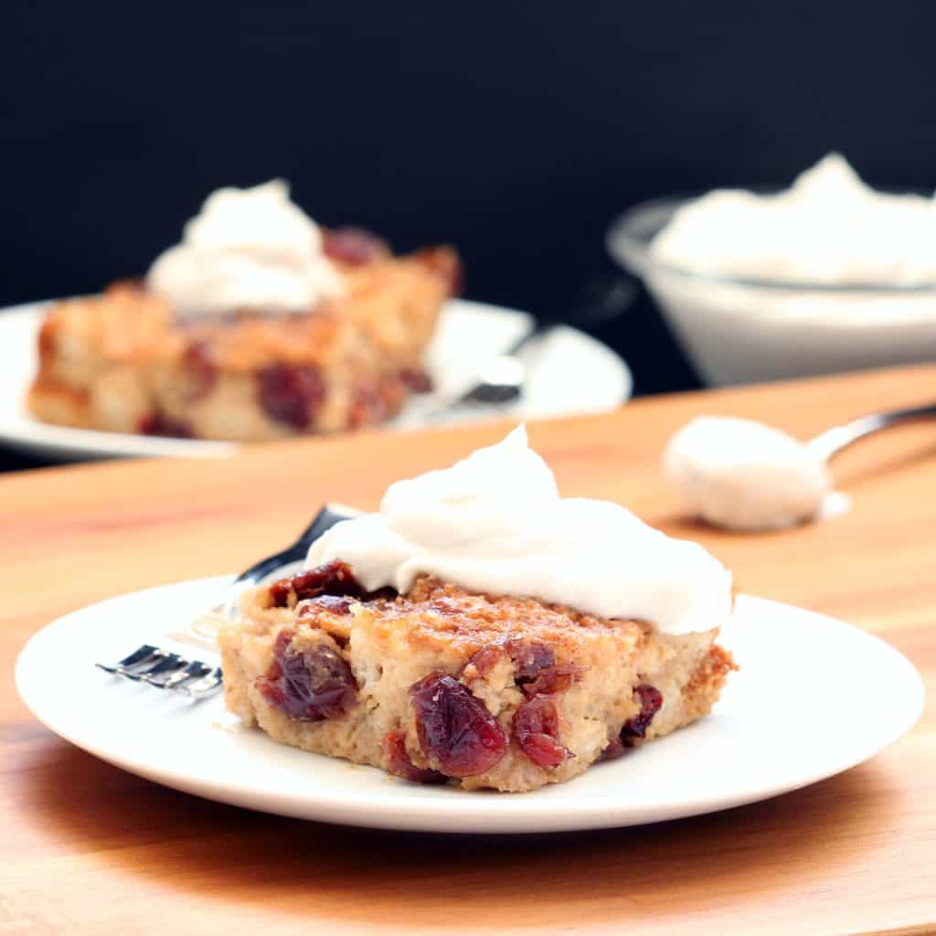 Cranberry Cherry Bread Pudding