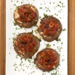 Portobello Steak with Tomato Caper Sauce
