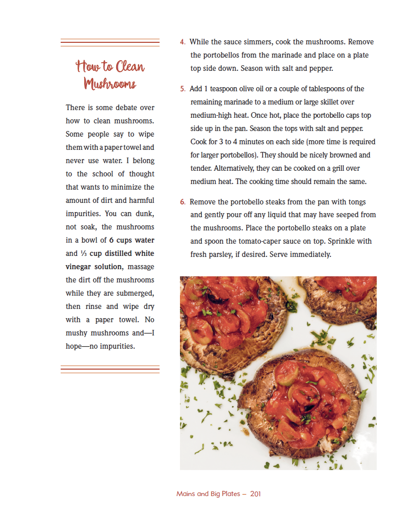 How-to Clean Mushrooms excerpted from Eat Well, Be Well Cookbook