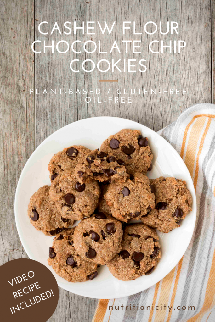 Cashew Flour Chocolate Chip Cookies Pin